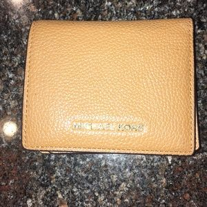 Michael Kors tan / brown leather wallet